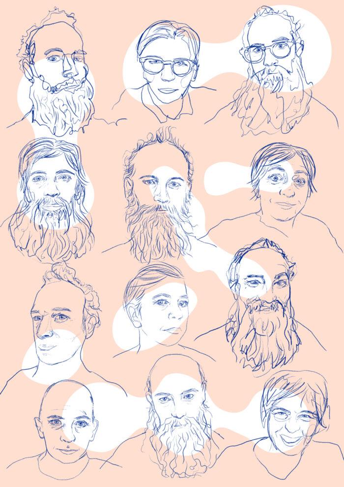 Illustrationer av olika människor