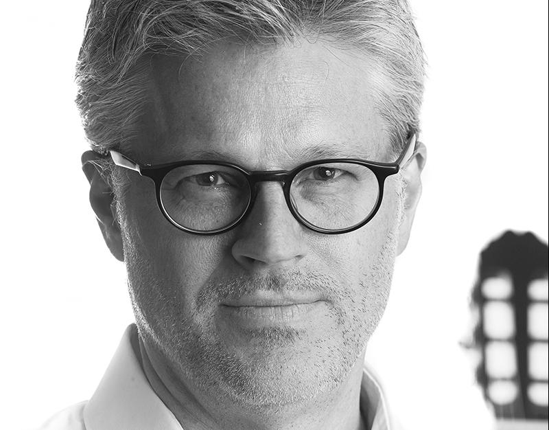Porträtt av Mats Bergström gitarrist
